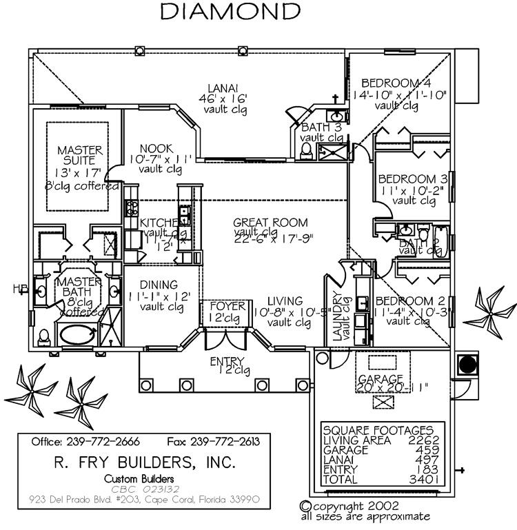 Deluxe series diamond for Barclays floor plan